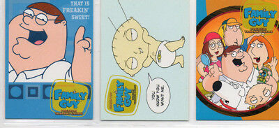 Family Guy - Season 1 2 - Lot of 3 Different Promo Cards Inkworks