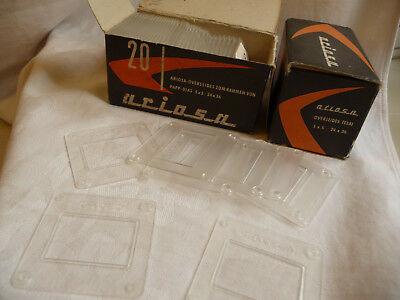"Slide mount ARIOSA 2 piece + GLASS 2x2"" for 35mm slides 20 per box"