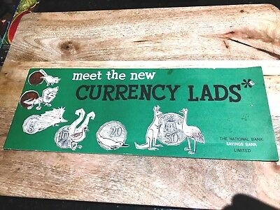Decimal Australia-'Meet the New Currency Lads'-National Bank-Kids'-1966-Rare.