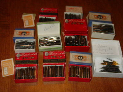 Vintage NOS Dip Pen Nibs 1000+ pcs Re-Li-On, Esterbrook, Champion, Rexall, Palm.