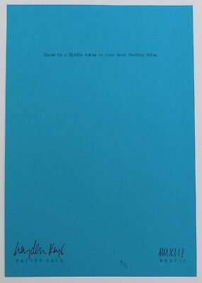 HAYDEN KAYS - Original Typewriter Piece, 'Listen To Little Voices' + COA - 2013