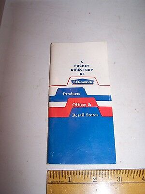 1964 B.F. GOODRICH Pocket Catalog Directory PRODUCTS OFFICES RETAIL STORES Tires