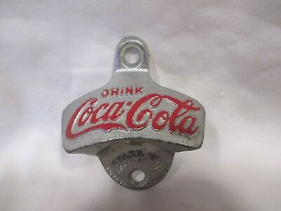 Vintage Drink Coca Cola Star X Wall Mount Bottle Opener Brown Co #10 W. Germany