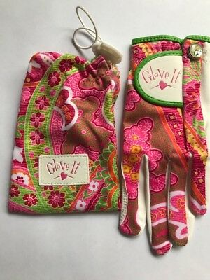 Glove It Junior Niñas Golf Guante. Rosa Paisley. Talla M