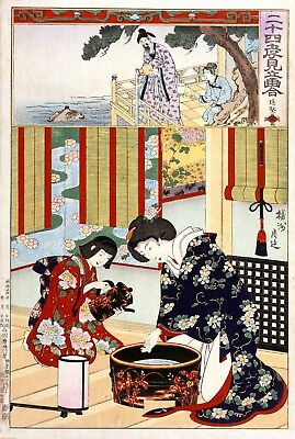 Repro Japanese Print 'Paragons of Filial Piety' Series by Chikanobu Yoshu #13