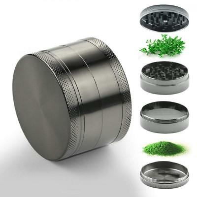 Home Inspira 2.5 Inches Zinc Manual Herb Grinder with Magnetic Top and Pollen