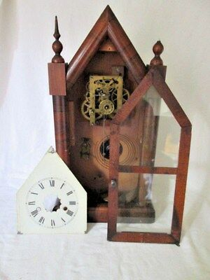 An American Gothic/Steeple Mantel Clock Spare or Repair