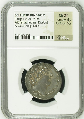 SELEUCID KINGDOM | Philip I, c.95-75 BC | AR Tetradrachm (15.93g) | Ancient Coin