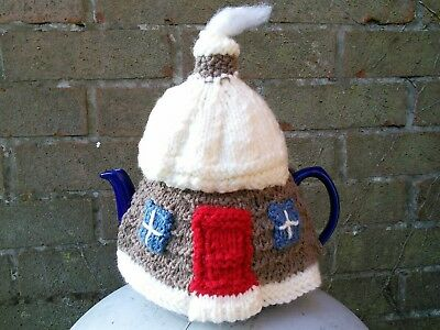 Hand Knitted Cottage Tea Cosy/cozy/cosies/cozies. Brand New.