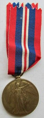 Great Britain WWI 1914-1919 Service Bronze Medal 36mm w/Ribbon Awarded