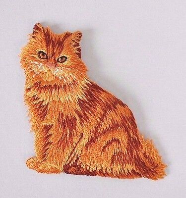 **embroidered** Iron On Patch Quality Detailed Red Cat Kitten Kitty Ships Free