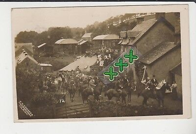 Edwards Selkirk Photo Postcard - Common Riding (Horses, Buildings, People) 1912
