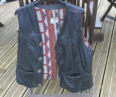 Vintage Leather Waistcoat - See Photographs