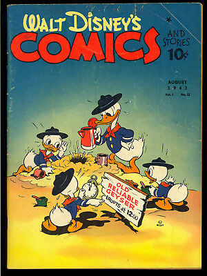Walt Disney's Comics & Stories #11 (Missing One Page) o/w Nice Dell 1941 VG*