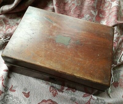 Old Wooden Box for project including interesting mixed contents