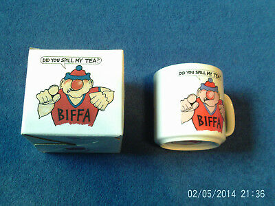 Vintage Official Viz Biffa Bacon Ceramic Mug In Original Box - New / Unused 1991