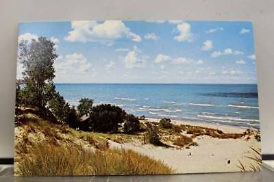 Indiana IN Chesterton Dunes State Park Lake Michigan Postcard Old Vintage Card