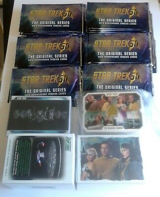 STAR TREK LOT COMPLETE BASE CARD SETS & 50th Anniversary Cards/36 NEW packs!!!!!