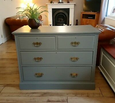 Beautiful Vintage Antique Painted Large Chest Of Drawers Sideboard Farrow & Ball