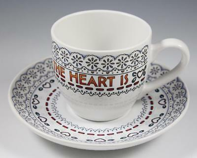 """Mary Engelbreit Cup & Saucer """"Home Is Where The Heart Is"""""""