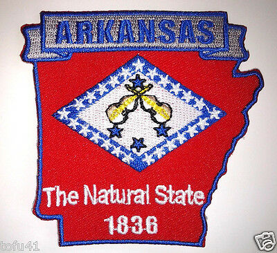 *** ARKANSAS STATE MAP *** Biker Patch PM6704 EE