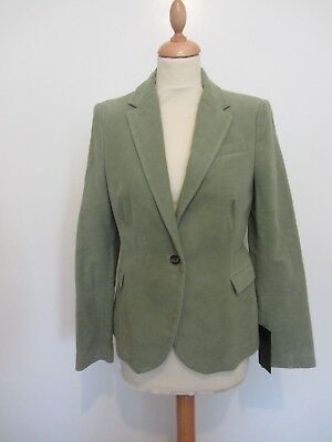BNWT ladies sage green velvet jacket/blazer by ZARA, size L, RRP £49.99