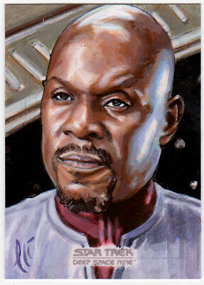Star Trek Deep Space Nine Heroes & Villains Sisko AP Sketch Card Lee Lightfoot
