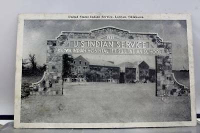 Oklahoma OK Lawton US Indian Service Kiowa Hospital Fort Sill School Postcard PC