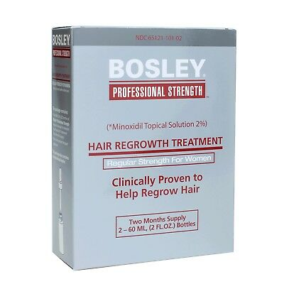Bosley Women Re-Growth Treatment Minoxidil Topical Solution 2% two month supply
