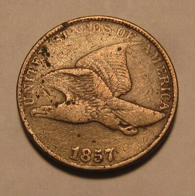 1857 Flying Eagle Cent Penny - Very Fine Condition - 46SU