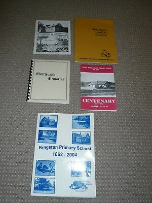 Vintage 5  Centenary Country  School History Books