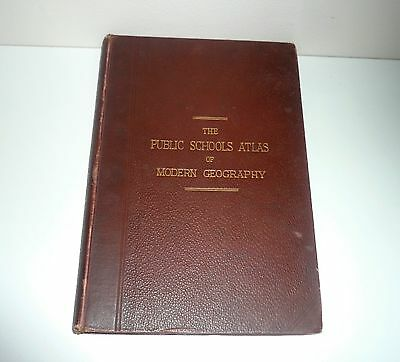 The Public Schools Atlas Of Modern Geography In 33 Maps Dated 1905