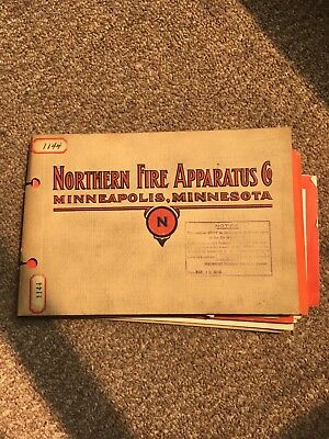 Northern Fire Apparatus Co Catalog vintage 1918 fire fighting ephemera Minn