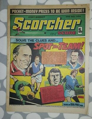 SCORCHER and SCORE Comic 27th July 1974