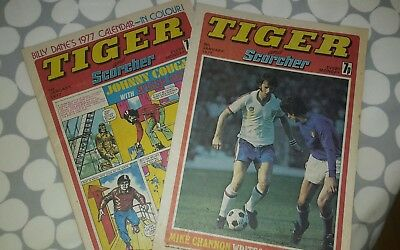 2 x TIGER and SCORCHER Comics 1st & 8th January 1977