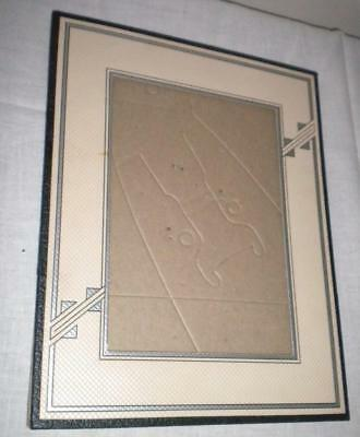 """Vintage 1930s Art Deco Cardboard Picture Frame Holds 5""""x7"""" Picture Never Used"""