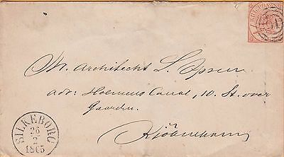 SILKEBORO, DENMARK ~ 1865 COVER WITH Scott #11a BARELY TIED Cat $2,000 on cover