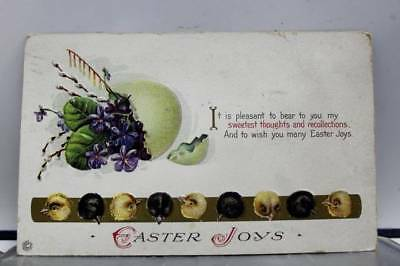 Easter Joys Sweetest Thoughts Recollections Postcard Old Vintage Card View Post