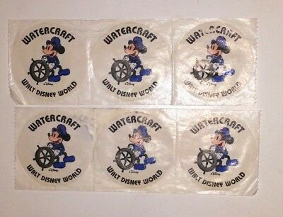 "Walt Disney World Sailor Mickey Mouse Watercraft 2"" Round Stickers Lot Of 6"