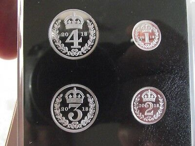 UK Royal Mint 2018 Maundy silver coin set  boxed