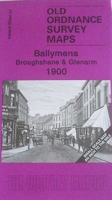 Old Ordnance Survey Maps Ballymena Broughshane Glenarm Ireland 1900 Godfrey Edit