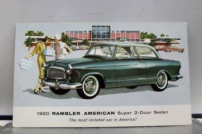 Car Automobile 1960 Rambler American Sedan Postcard Old Vintage Card View Post