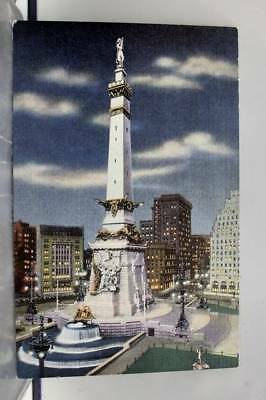 Indiana IN Indianapolis Soldiers Sailors Monument Postcard Old Vintage Card View