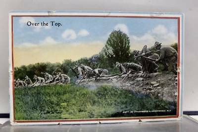 Military US Army Over the Top Postcard Old Vintage Card View Standard Souvenir