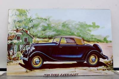 Car Automobile 1934 Ford Cabriolet Postcard Old Vintage Card View Standard Post