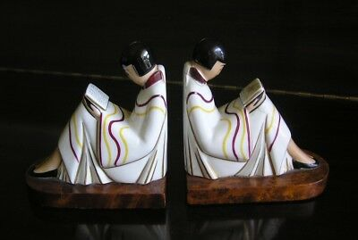 Rare Argilor Paris France Art Deco Bookends