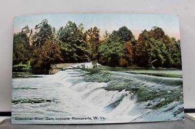 West Virginia WV Greenbrier River Dam Postcard Old Vintage Card View Standard PC