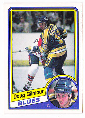 84-85 OPC Doug Gilmour Rookie OpeeChee RC Blues 1984