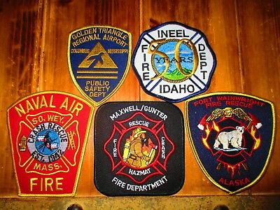5 ARFF/Military Fire Patches #42