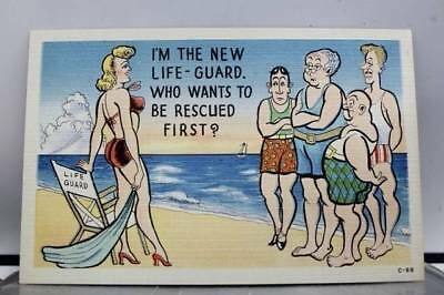 Comic Cartoon the New Life Guard Postcard Old Vintage Card View Standard Post PC